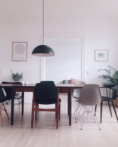 Ink study by Johannes Holt-Iversen in Interior Setting in Copenhagen Copenhagen, Office Desk, Dining Chairs, Interior Decorating, Study, Paintings, Ink, Furniture, Home Decor