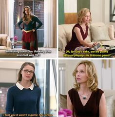 """""""I'm sorry to bother you, Ms. Grant. But James Olsen said you wanted to see me."""" #Supergirl #1x09"""