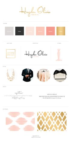 Gorgeous branding...the colors are ideal and the images show the perfect vibe of the wedding. black bow ties, gold, and peachy pink.