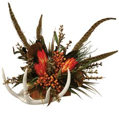 Antler and Cedar Floral Arrangement