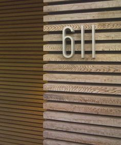Modern entry number by CCS Architecture Modern Entry, Modern Exterior, Exterior Design, Wayfinding Signage, Signage Design, Detail Architecture, Interior Architecture, Timber Cladding, Timber Battens