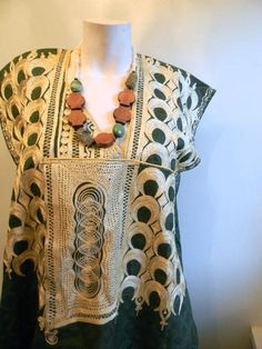 vintage. 70s Green Cotton Caftan  // Moroccan by styleforlife, $125.25