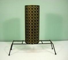 Vintage 1950's Black Metal TV Lamp by Rustology on Etsy, 40.00