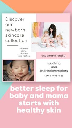 all-natural skincare for newborns and babies / discover Wash With Water for eczema remedies & your favorite new skin care routine