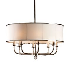 Zoe Eight-Light Nickel Chandelier - Ethan Allen US dining room fixture idea; 2 of them