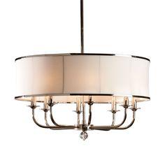 Zoe Eight-Light Nickel Chandelier - Ethan Allen US dining room fixture idea; 2 of them