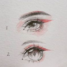 1 or 2? Human Face Drawing, Realistic Eye Drawing, Eye Sketch, Anime Sketch, Creature Drawings, Love Drawings, Easy Drawings, Eye Art, Doodle Drawing