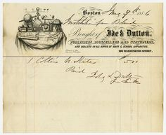 Invoice from Ide & Dutton Publisher of Boston, Massachusetts to Perkins Institution.  Invoice for slates from 1856. Visit the Perkins Archives Flicker page: http://www.flickr.com/photos/perkinsarchive/collections/
