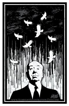Alfred Hitchcock's Birds 11x17 Poster by AlbrightIllustration