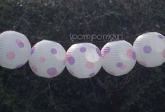 NEW  Dippin Dots   Paper Lantern with Polka Dots/ Wedding, Reception/ Photo Props, Bridal Shower, Baby Shower, Birthday on Etsy, $6.50