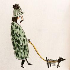 Walking the dog: elizabeth graeber