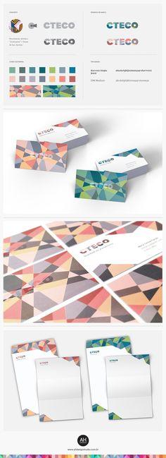 AHdesign Studio, Identidade Visual para CTECO #design, #graphicdesign… Business Card Design, Business Cards, Brand Identity, Branding, Buisness, Logo Nasa, Graphic Design, Marketing, Logos