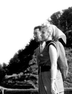 """""""Marilyn Monroe and Joe DiMaggio on their honeymoon in Japan, 1954. """""""