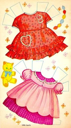 Little Laurie Paper Doll Cut-Out, 1961 Whitman (6 of 10)