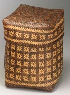 """Southeast Twilled Lidded Basket 