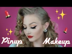 GO TO PINUP - VINTAGE INSPIRED MAKEUP + HAIR - YouTube Pin Up Makeup, Free Makeup, About Hair, Makeup Inspiration, Pinup, Makeup Brushes, Vintage Inspired, Videos, Youtube