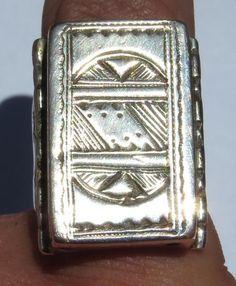 61.61ct. FANTASTIC!!! Sterling Silver Algerian Men's Ring