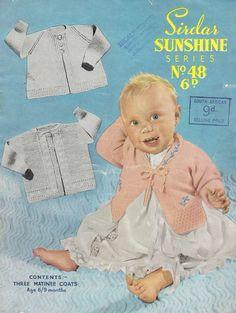 Sirdar Sunshine 48 baby matinee coat vintage by Ellisadine on Etsy, £1.00