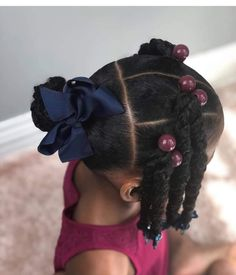 Little Girls Natural Hairstyles, Baby Girl Hairstyles, Natural Hairstyles For Kids, Kids Braided Hairstyles, Princess Hairstyles, Toddler Hairstyles, Braids For Kids, Girls Braids, Curly Hair Styles