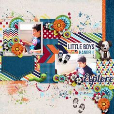 Chocolate Dreams Template by Two Tiny Turtles http://scrapstacks.com/shop/Chocolate-Dreams.html Little Boys by Kristin Aagard Designs http://scraporchard.com/market/Digital-Scrapbook-Kit-Little-Boys.html