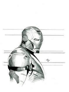 Iron Man - Movie Armour Comic Art by Adi Granov