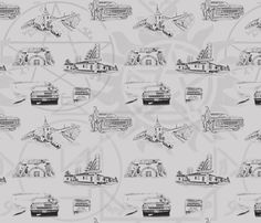 Supernatural Toile fabric by skgill on Spoonflower - custom fabric