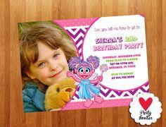 Abby Cadabby Invitation Printable, Sesame Street Birthday Party, Digital Card Invites 4x6 or 5x7