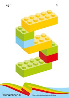 Figures from lego 1 for toddlers, number kleuteridee.nl, lego numbers f . Lego Duplo, Lego Math, Numbers Preschool, Preschool Activities, Legos, Lego Letters, Lego Challenge, Lego For Kids, Cool Lego