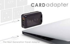 The Card USB Universal Travel Adapter with USB-C Port
