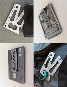 Lever Gear EDC Toolcard Pro - Credit Card Size Multi Tool and Money Clip - Everyday Carry Gear
