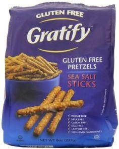Gratify Gluten Free Pretzel Sticks, 8 Ounce (Pack of 6) - http://www.handygrocery.com/grocery-gourmet-food/snack-foods/pretzels/gratify-gluten-free-pretzel-sticks-8-ounce-pack-of-6-com/