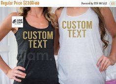 ENDS AT 12AM custom bridesmaid shirt bachelorette tanks