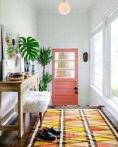 { possibly the most stylish mud room ive seen yet... seen on one of my favorite blogs www.oldbrandnew.com and @dabito  #colorstory }