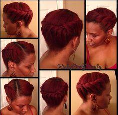 NATURAL HAIR UPDO #KINKYCURLYBEAUTY