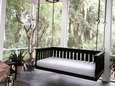 Plantation Row Swing Bed – Magnolia Porch Swings Metal Pergola, Pergola Patio, Pergola Plans, Pergola Ideas, Pergola Kits, Patio Ideas, Wisteria Pergola, Curved Pergola, Pergola Swing