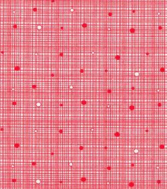 Keepsake Calico™ Cotton Fabric-Grid Red with Dots