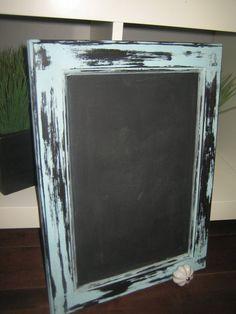 Repurposed Cupboard Door Shabby Chic Chalkboard In by 33Stripes, $23.00