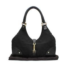 GUCCI GG Canvas Shoulder bags Black Canvas 124407