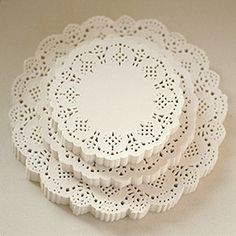 Flower Lace Paper Doilies 75 inch 200 sheets by WonderlandRoom, $10.40
