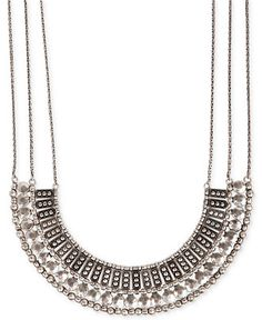 Funky and cute.  Lucky Brand Silver-Tone Textured Metal Necklace - Jewelry & Watches - Macy's