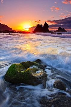 Sunset / Sunrise, Últimas luces en Benijo, Playa de Benijo, Parque Rural de Anaga, Tenerife, Islas Canarias