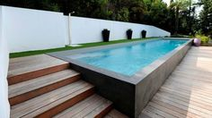 Popular Above Ground Pool Deck Ideas. This is just for you who has a Above Ground Pool in the house. Having a Above Ground Pool in a house is a great idea. Tag: a budget small yards Small Backyard Pools, Backyard Pool Designs, Small Pools, Swimming Pools Backyard, Swimming Pool Designs, Pool Landscaping, Outdoor Pool, Lap Pools, Backyard Ideas
