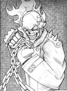 Ghost Rider Coloring Page Yahoo Image Search Results Pictures Sheets