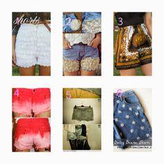 donneinpink- risparmiare col fai da te: Moda fai da te. Re-fashion shorts