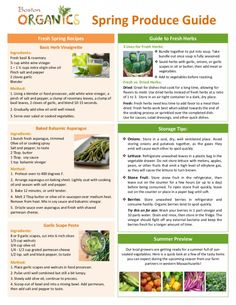 Seasonal Produce Guide pg2
