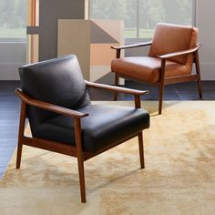 Named for the way its aniline leather seat peeks through its solid wood frame, our Mid-Century Show Wood Chair packs good looks and comfort into one sleek silhouette. Did we mention its sculptural arms and wide, welcoming seat?