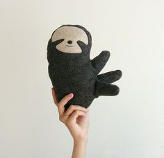 Plush Sloth Doll stuffed animal totem plush dolls - Fauna Friends Collection by Fawn and Sea - handmade with eco friendly felt & fill on Etsy, $34.00