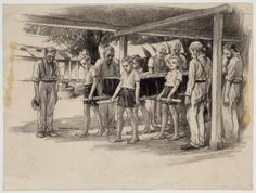 Een begrafenis in kamp 7 te Ambarawa