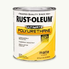 Rustoleum Countertop Paint Polyurethane : Ultimate Polyurethane, by Rust-Oleum This formulation boasts a matte ...