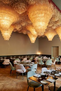 Magnificient lighting in hospitality lighting design. Come and get inspired by these lighting inspirations and get your home interior decor going! Ceiling Lamp, Ceiling Lights, Ceiling Installation, Contemporary Chandelier, Top Restaurants, Best Interior Design, Architectural Digest, Restaurant Design, Decoration